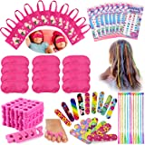 Tacobear 96PCS Spa Party Supplies for Girls Multiple Spa Party Favors for Kids Including 12 Tote Bags, 24 Emery Boards,12 Col