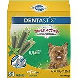 PEDIGREE DENTASTIX Dental Dog Treats for Toy/Small Dogs Fresh Flavor Dental Bones, 12.66 oz. Pack (51 Treats)