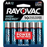 Rayovac AA Batteries, Alkaline Double A Batteries (12 Battery Count)
