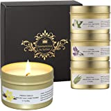 Scentalicious Scented Candles Gift Set, Aromatherapy Candles, Valentines, Birthday, Diwali - Pure Soy Wax & Essential Oils