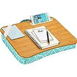 """LapGear Designer Lap Desk - Aqua Trellis (Fits up to 15"""" Laptop),45422"""