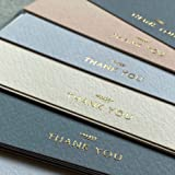 (36 Pack) Thank You Cards With Envelopes & Stickers - Elegant Dusty Blue Emboss Gold Foil Pressed - Blank Notes Wedding, Brid