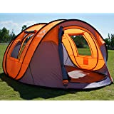 "Oileus Pop up Tents Camping 4 to 6 Person Tent Sky-Window(45""x 25"") Instant Camping Tent 14 Reinforced Steel Stakes & Carryin"