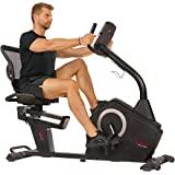 Sunny Health & Fitness Programmable Recumbent Bike - SF-RB4850 , Black