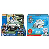 Paw Patrol Everest's Rescue Snowmobile & Paw Patrol, Jungle Rescue, Tracker's Jungle Cruiser, Vehicle & Figure Includes Blizy