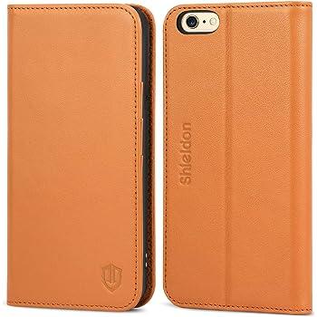7f05f7a337 iPhone6s ケース / iPhone6 ケース 手帳型 SHIELDON 本革 カバー TPU カードポケット スタンド機能 マグネット式  アイフォン6s / 6 用 財布型 カバー 4.7インチ対応 ...