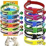 GAMUDA Puppy Collars – Super Soft Nylon Whelping Puppy Collars - Adjustable Litter Collars Pups – Assorted Colors Reflective