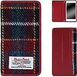 ホワイトナッツ iPhone8 スマホケース 手帳 ベルトなし ハリスツイード ワインレッド ケース アイフォンエイト 手帳型 カバー スマホカバー WN-OD470524_ML