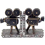 Bellaa 26287 Camera Bookend Set Vintage Old-Style Movie Film