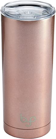 BYO 5212987 Double Wall Stainless Steel Vacuum Insulated Tumbler, 20-Ounce, Rose Gold