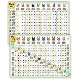 お風呂ポスター いぬ ねこ うさぎ 学習ポスター たしざん表 A2 (60×42cm) 日本製 知育 算数 (たしざん ひきざん)
