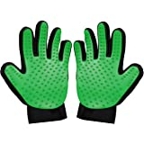 Zenify Pets Hair Grooming Glove Mitt for Deshedding Fur Removal from Pet Cats, Kittens, Rabbits, Guinea Pigs, Dogs, Puppies (