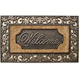 A1 Home Collections Rubber and Coir Dirt Trapper Heavy Weight Large Welcome Doormat
