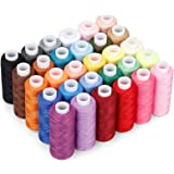 Sewing Thread 30 pcs,250 Yard Spool Threads Sewing Thread Bobbins Of Colorful Assorted Thread Spool for Embroidery Machine Us