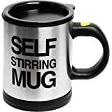 Self Stirring Coffee Mug Cup - Funny Electric Stainless Steel Automatic Self Mixing & Spinning Home Office Travel Mixer Cup B