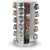 Simpli-Magic 79277 Revolving 20-Jar Countertop Spice Rack, Stainless Steel