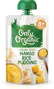 Only Organic Mango Rice Pudding 8+ Months - 120g