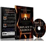 暖炉 Dvd - Tv ジューク  ボックス 2 - リアルな燃木の音の9つの暖炉から選択