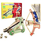 Butterfly EduFields Craft Catapult Kit , Build 2 Wooden 3D Puzzle Models , Fun Science Construction Toys for 5+ Year Old Kids