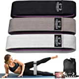 Resistance Bands for Legs and Butt,Exercise Bands Set Booty Bands Hip Bands Wide Workout Bands Resistance Loop Bands Anti Sli