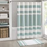 "Madison Park - Spa Waffle Shower Curtain with 3M Treatment - Water Repellent & Stain Resistant - Aqua - 72(W)"" X 72(L)""- Mach"