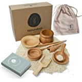 Sensory Bin Tools, Free eBOOK | Montessori Toys + Waldorf Toys | Set of 8 Wooden Toys + Tools | Includes Wooden Scoops, Woode