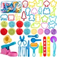 Maykid Play Dough Tools Set for Kids, 50pcs PlayDough Toys Includes Dough Accessory Molds Rollers Cutters Scissors and Storag