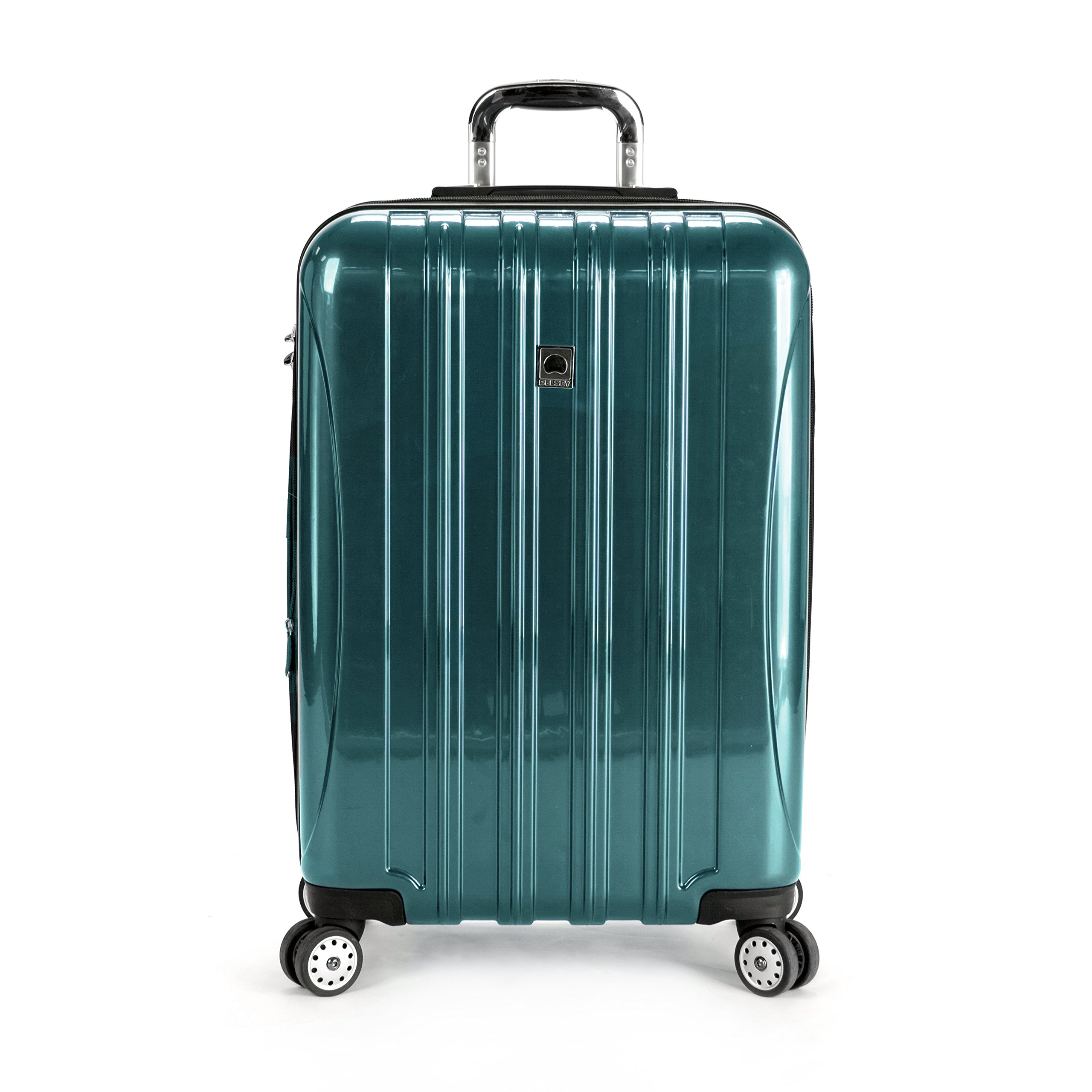 "Delsey Luggage Helium Aero 25"" Expandable Spinner Trolley (Teal)"