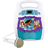 Disney Princess Bluetooth Portable MP3 Karaoke Machine Player Light Show Store Hours of Music Built in Memory Sing Along Usin