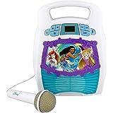 Disney Princess Bluetooth Portable MP3 Karaoke Machine Player Light Show Store Hours of Music Built in Memory Sing Along Usin