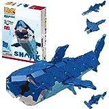 LaQ Marine World Shark - 4 Models, 175 Pieces | Fun Shark Toy | Japanese Building & Construction Toys for Kids | Sensory Toys