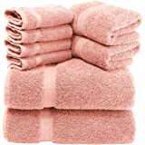 White Classic Luxury Bath Towels for Bathroom-Hotel-Spa-Kitchen-Set - Circlet Egyptian Cotton - Highly Absorbent Hotel Qualit