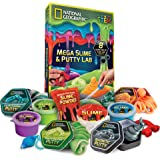 NATIONAL GEOGRAPHIC Mega Slime Kit & Putty Lab - 4 Types of Amazing Slime for Girls and Boys plus 4 Types of Putty including