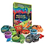 NATIONAL GEOGRAPHIC Mega Slime & Putty Lab - 4 Types of Amazing Slime + 4 Types of Stretchable Putty Including Magnetic...