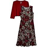 Julian Taylor Womens Two Piece 3/4 Sleeve Short Jacket and Midi Dress 3/4 Sleeve Dress - Multi