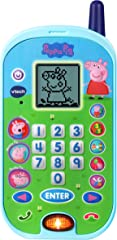 VTech 80-523100 Peppa Pig Let's Chat Learning Phone,Led-Anti-Stress-167,Blue