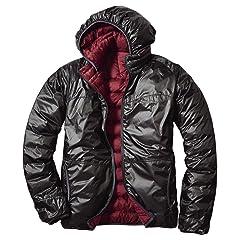 EB900 Fill Power Plus Reversible Down Hooded Jacket 019241: Beet / Dark Slate