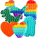 FiGoal 6 Pack Push pop pop Bubble Sensory Fidget it Toy Anxiety Stress Reliever, Autism Special Needs Squeeze Sensory Toy for