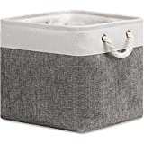 HNZIGE Cube Storage Baskets for Shelves, Large Fabric Baskets for Organizing, Collapsible Basket Bins for Clothes, Blankets,