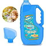Bloranda Bubble Solution Refill (Up to 3 Gallon) Concentrated Giant Bubble Liquid 40 Ounce with Easy Pour Funnel, Suitable fo