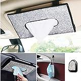 BLBGDD Bling car Tissue Holder Visor Tissue Holder for car Bling car Accessories for Women Interior Cute Automotive Diamond c