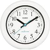 CASIO(カシオ) 掛け時計 ホワイト 防湿 防塵 スプラッシュタイム 置き掛け兼用 IQ-180W-7JF