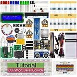 Freenove Ultrasonic Starter Kit for Raspberry Pi 4 B 3 B+ 400, 487-Page Detailed Tutorials, Python C Java Scratch Code, 171 I