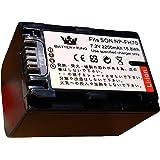 バッテリーキング NP-FH70 互換バッテリー 2200mah リチウムイオンバッテリー HDR-CX7/HDR-CX12/HDR-SR7/HDR-SR8/HDR-SR11/HDR-SR12/HDR-HC9等対応 Shenzhen Kandese
