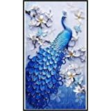 DIY 5D Diamond Painting Lucky Bird Peacock by Number Kits Painting Cross Stitch Full Drill Crystal Rhinestone Embroidery Pict