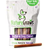 Nature Gnaws Bully Sticks for Dogs - Premium Natural Tasty Beef Bones - Simple Long Lasting Dog Chew Treats - Rawhide Free -