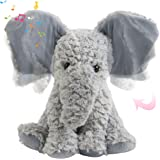 Houwsbaby Peek A Boo Elephant Interactive Plush Musical Singing Elephish Toy Flapping Ears Stuffed Animal Adorable Electric A