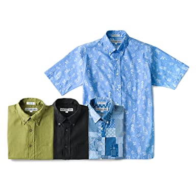 Short Sleeve Buttondown Shirt: Hawaiian