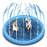 STARDEN Outdoor Sprinkler Splash Pad Toys for Dogs and Kids, Outside Thickened Durable Splash Pad Water Toys Bath Pool for Do