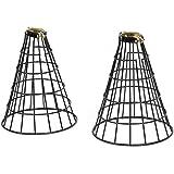 Rustic State Vintage Design Metal Light Cage Guard - Decorative Lamp Shade Black Set of 2Rustic State Vintage Design Metal Li